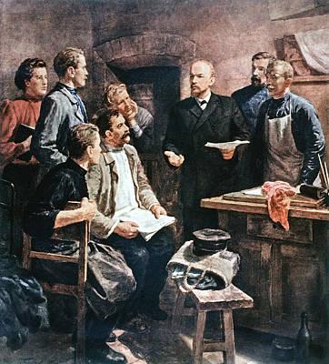 Democrat Painting - Vladimir Lenin (1870-1924) by Granger