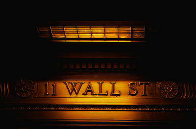 Market Street Photograph - 11 Wall St. Building Sign by Panoramic Images