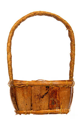 Photograph - Wicker Basket Number Two by Olivier Le Queinec