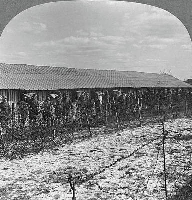 Barbed Wire Fences Painting - World War I Prisoners by Granger