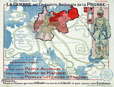 World Map Poster Drawing - Wwi Poster, 1917 by Granger