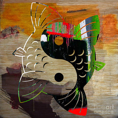 Yin Yang Koi Art Print