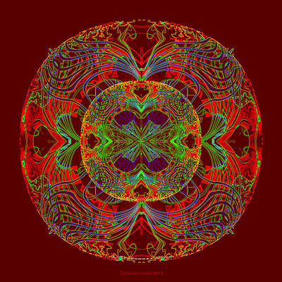 Painting - 1011 Mandala Rot by Irmgard Schoendorf Welch