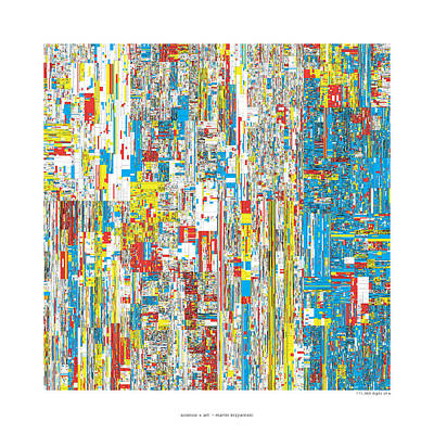 111469 Digits Of Pi Art Print by Martin Krzywinski