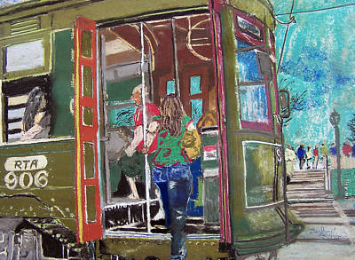111708 New Orleans Street Car  Art Print