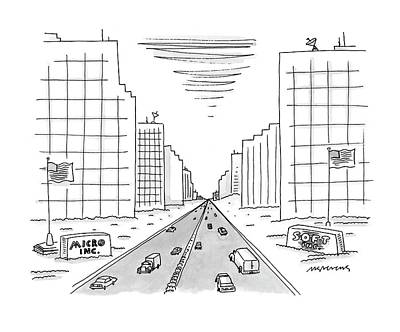 Split Drawing - New Yorker May 15th, 2000 by Mick Stevens