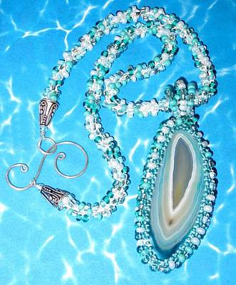 Jewelry - 1120 Water Agate by Dianne Brooks