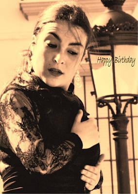114 Chiki Torres Birthday Card - Flamenco Dancer Art Print by Patrick King