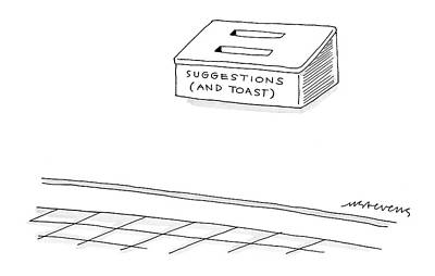 Toaster Drawing - New Yorker November 15th, 2004 by Mick Stevens