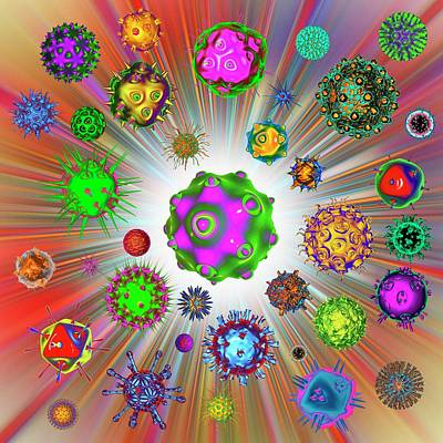 Bright Colours Photograph - Virus by Mehau Kulyk