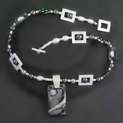 Jewelry - 1141 Black Pearl Star by Dianne Brooks