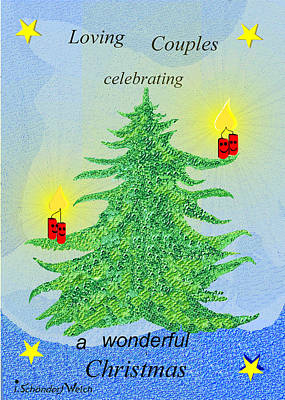 Painting - 1161 - Christmas Card by Irmgard Schoendorf Welch