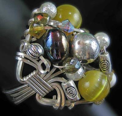 Jewelry - 1169 Bling Bling Cluster Ring by Dianne Brooks