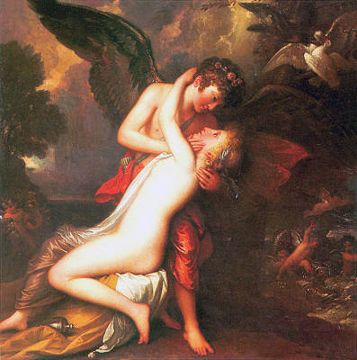 Painting - Cupid And Psyche by Benjamin West