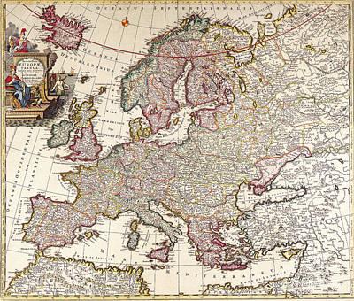 Allard Painting - Antique Map by Baltzgar