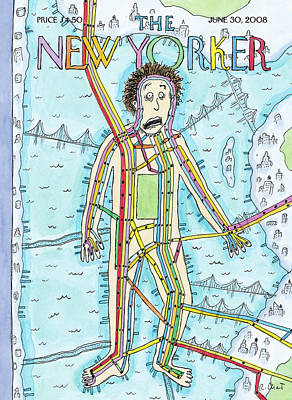 Park Painting - New Yorker June 30th, 2008 by Roz Chast