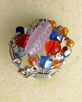 Jewelry - 1170 Bling Bling Cluster Ring by Dianne Brooks