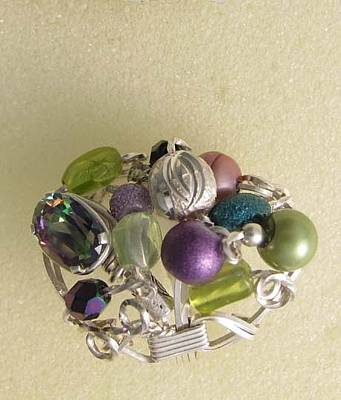 Jewelry - 1172 Bling Bling Cluster Ring by Dianne Brooks