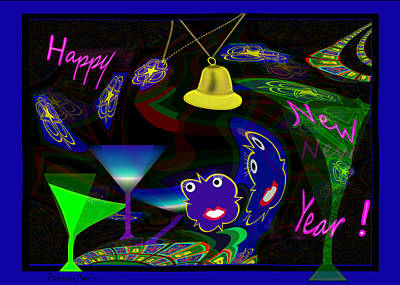 Painting - 1172 - Happy New Year ... by Irmgard Schoendorf Welch