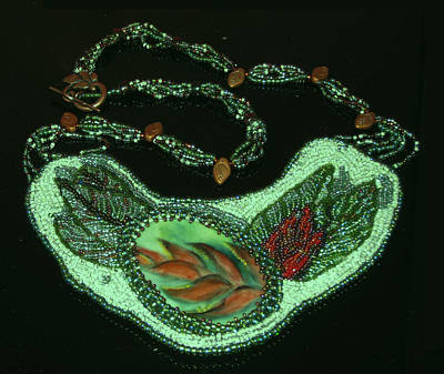 Jewelry - 1178 Heliconia Collar by Dianne Brooks