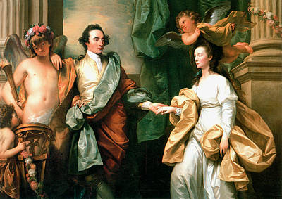 Painting - Mr And Mrs John Custance by Benjamin West