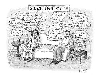 Thought Drawing - Silent Fight by Roz Chast