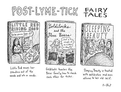 Sleeping Drawing - Post-lyme-tick Fairy Tales by Roz Chast