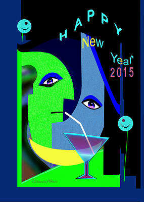 Painting - 1193 - New Year 2015 by Irmgard Schoendorf Welch