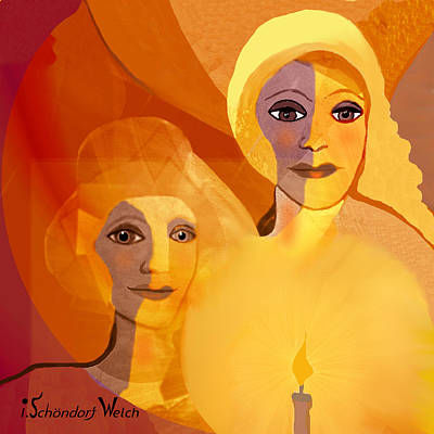 Painting - 1196 - Candle Of Our Life .. by Irmgard Schoendorf Welch