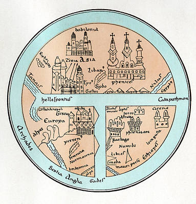 11th Century Globe Print by Cci Archives
