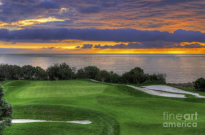 Putt Photograph - 11th Green - Trump National Golf Course by Eddie Yerkish