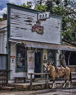 11th Street Cowboy Bar In Bandera Texas Print by Priscilla Burgers