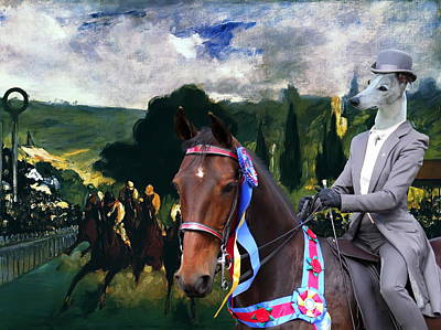 Whippet Painting -  Whippet  Art Canvas Print by Sandra Sij