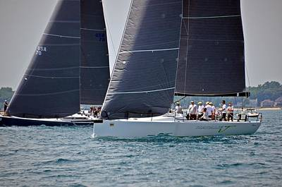 Photograph - 2014 Bells Beer Bayview Mackinac Race by Randy J Heath