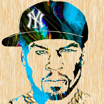 50 Cent Collection Art Print by Marvin Blaine