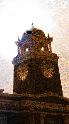 Photograph - 1 10pm  Clock Tower  by Marie Jamieson