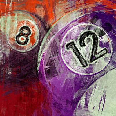 Rail Digital Art - 12 8 Billiards by David G Paul