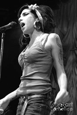 Photograph - Amy Winehouse by Jenny Potter