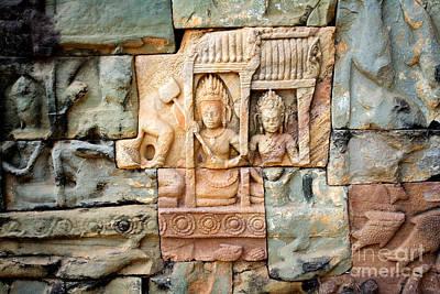 Angkor Thom Art Print by David Davis