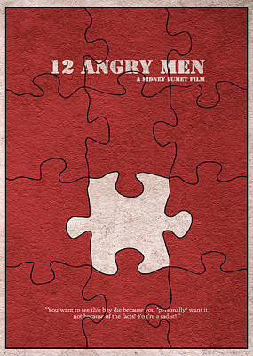 12 Angry Men Art Print by Ayse Deniz