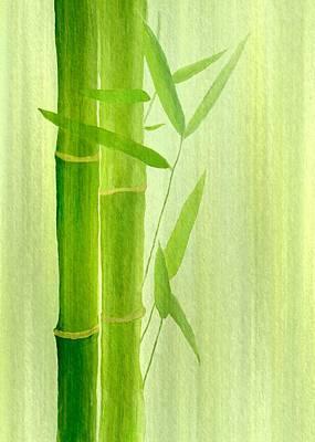 Gabii40 Digital Art - Bamboo by Gabi Siebenhuehner