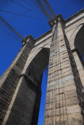 Photograph - Brooklyn Bridge - New York City 2 by Frank Romeo