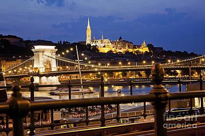 Budapest By Night Art Print by Odon Czintos
