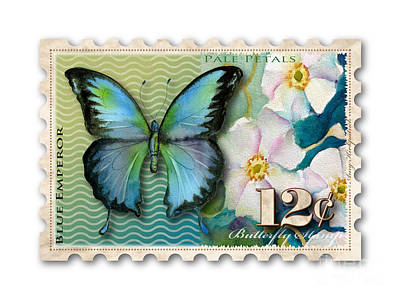 Painting - 12 Cent Butterfly Stamp by Amy Kirkpatrick