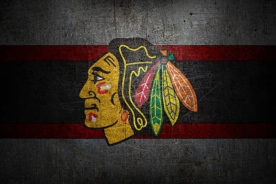 Card Photograph - Chicago Blackhawks by Joe Hamilton