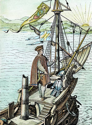 Bry Painting - Christopher Columbus (1451-1506) by Granger