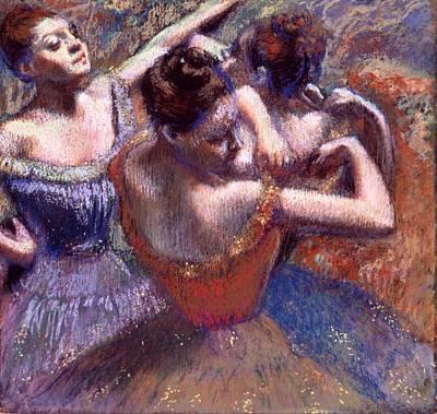 Ohio Painting - Dancers by Edgar Degas