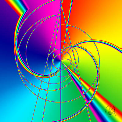 Depression Color Therapy Inside A Rainbow Print by Sir Josef - Social Critic - ART