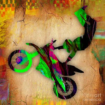 Bikes Mixed Media - Dirt Bike by Marvin Blaine