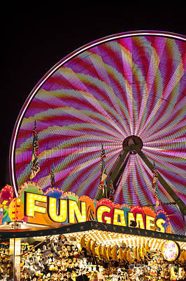 Photograph - Evergreen State Fair With Ferris Wheel by Jim Corwin